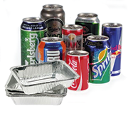Aluminium cans and foil